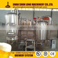 China time-honoured brand Shunlong beer brewing equipment with high quality 3bbl beer brewhouse