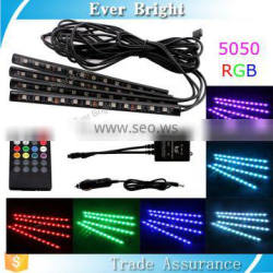 IP65 waterproof flexible 5050 led strip light auto atmosphere lamp 4x12SMD 5050 rgb led strip