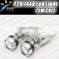 T20 7440 16pcs*5W c ree leds High Power LED car led brake light stop led bulb 800lm white backup reverse lights bulbs