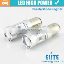 Newest!!! 30W high power 1157 3157 7443 baz15d P21 T20 led strobe light bulb