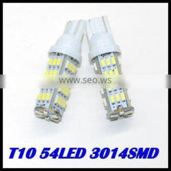 NEW 2015 PRODUCTT10 54LED SMD Car Bulb Car Auto LED T10 194 W5W 3014 Wedge Light Bulb Lamp 5SMD White