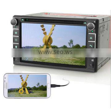 Winmark 6.2 Inch Double Din Car DVD Player With Touch Screen GPS Bluetooth Radio Mirror-Link Mstar2531 Universal