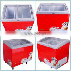 SD-282L Chest Showcase With Curved Glass Lids Display Freezer for Sale