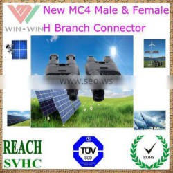 TUV Approval New MC4 Male & Female H Branch Connector