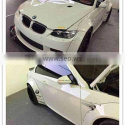 high quality FRP and carbon fiber E93 LB works style body kit FRP fenders flares carbon fib front spoiler for 3series e92 e93 M3
