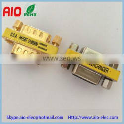 two way type D SUB VGA jack female for panel MINI Gender changer