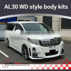 AL30 W-style body kits fit for TY MPV for Alphard30 to W-style FRP material full set