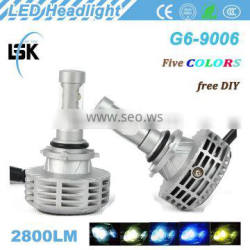Car accessories brightness light 12v-24v best price g6 LED headlight with all in one design