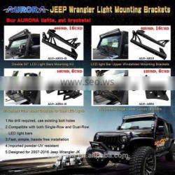 "Aurora fitting for 50"" Jeep JK windshild Led Light Bar Mounting Brackets"