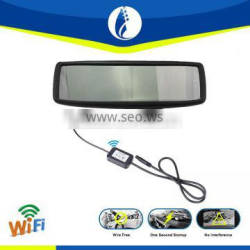 4.3inch non interference touch panel wifi Car dvr bluetooth mirror with gps reversing camera
