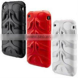 Fish Bone Shape Silicone Rubber Sleeve For Apple Iphone 4 4s
