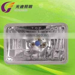 """5"""" Square car headlamp 4652 auto 6000 semi sealed beam bulb with gold supplier in alibaba"""