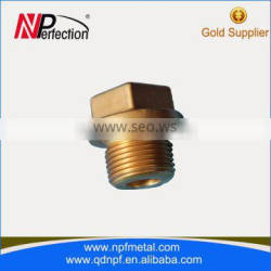 China manufacture pipe fitting threaded brass pipe nipple
