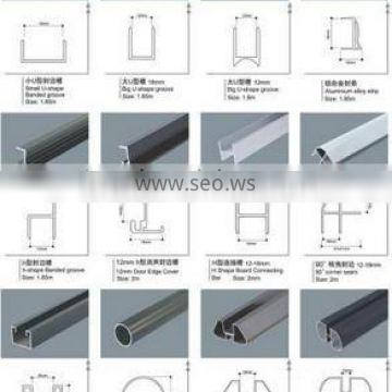China OEM Aluminium extrusion profile Aluminum extrusion profile of partitions with good surface treatment.