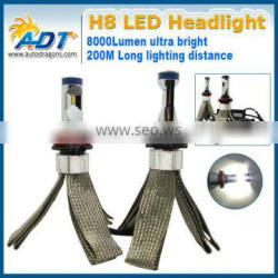 8000LM LED Headlight Kit H4 HB2 9003 Hi/low Beams White 6000K Bulbs