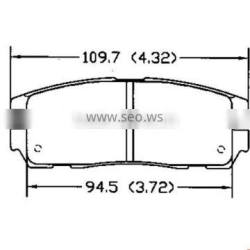 D580 8-97070-080-0 for HONDA Acura OPEL ISUZUI Greatwall car brake pad