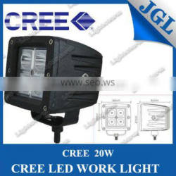 12/24 Volt High Intensity LED Work Light 20W SQUARE 4 LEDS DRIVING LAMP