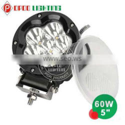 Top New Design 60W Led Driving Light, 5inch Round 60W Led Driving Light for Offroad Truck