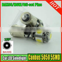 Car Light BA9S 5 LED 5 SMD 5050 Signal light Indicator lamp Reading lamp Car light DC12V 1.5W Bulbs Canbus