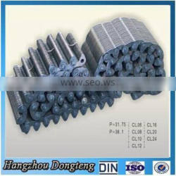Tooth steel DRIVE chain series(all kinds ) agricultural roller chainfactory direct supplier DIN/ISO Chain made in hangzhou china