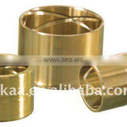 CNC machined bronze grooved bushing suspension bushing