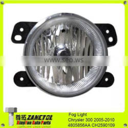 Auto Chrysler Dodge Jeep Clear Lens Chrome Housing Replacement Fog Lights Lamps OEM 4805856AA CH2590109