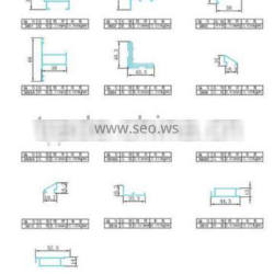 38 series aluminum extrusion profiles'sectional view