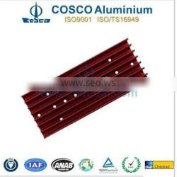 Extruded Aluminum heatsink Profile with anodizing and CNC machining and welding