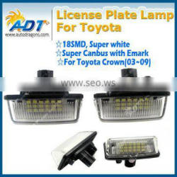 White License Plate Lamp 18 LEDs for Porsche for Cayenne for VW for toyota