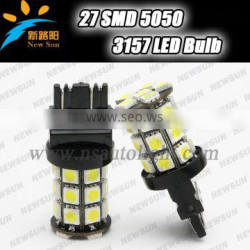 New design Canbus car led light 3157 27SMD car turn light led 3157 P27W-7W led brake light 12V led bulb no warning on dashboard