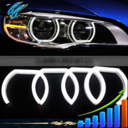 2015 CE certificate hot Selling led car headlights crystal angel eyes for bmw e90