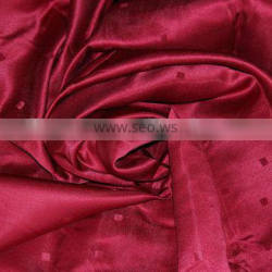 Luxray Win Red color 100% Ployester Jacquard curtain fabric