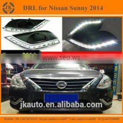 Good Price LED DRL Fog Light for Nissan Sunny Excellent Quality LED Daylight for Nissan Sunny 2014