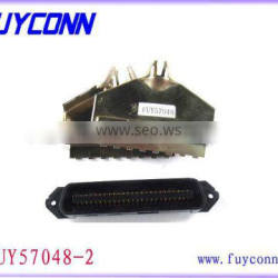 TYCO RJ21 180 degree cable outlet Connectors 50 pin Plug male crimp type IDC Connector 2.16mm centerliner