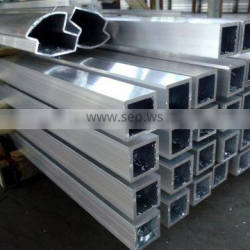 High quality low price extruded aluminium square tube (aluminium square pipe, aluminum square hollow tube)