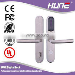 high quality iron mortise digital hotel card reader lock with European mortise