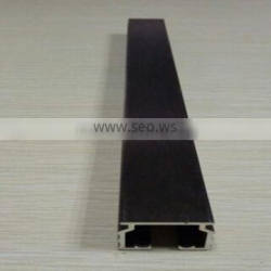 high quality materials black brush anodized aluminum profile for curtain rail