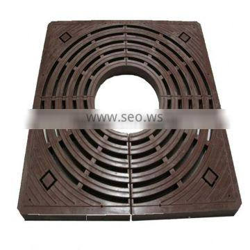 Painting low carbon steel metal tree grates for sale tree grate