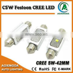 C5W 42mm CRE E 5W LED bulb