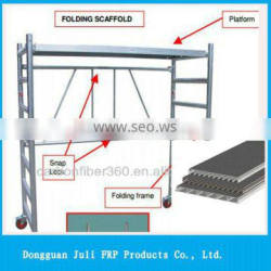 Solid/rigid Fiberglass deck panel, scaffold fiberglass flat plastic panel/deck/plate for constructure
