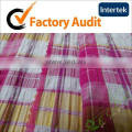 75 150D 95gsm 100% polyester yarn dyed fabric