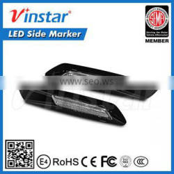 Clear lens black chrome finishes decorative lamp at side of auto as marker lamp LED Side marker lights