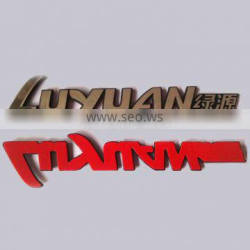 Top Quality Custom Private Brand Style And Waterproof Type Cheap Decorative Plastic Car Badge Logo With Adhesive