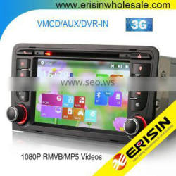 "Erisin ES7047A 7"" HD MTK Two Din Car Multimedia Navigation System for A3 RNSE-PU"
