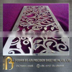 manufacturing custom decorative wall screen , laser cutting metal screen made in china