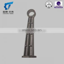 TS16949 Engineering machinery parts Bracing piece steel casting