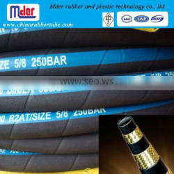 Hengshui hot sales hydraulic braided hydraulic rubber hose