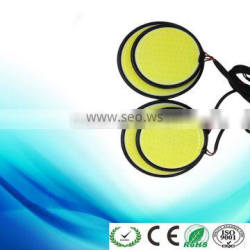 Newest COB daylight running light round DRL light 8cm, 6.5cm