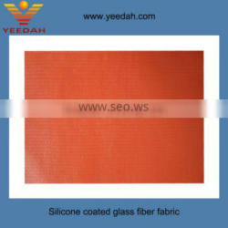 High temperature silicone coated glass fiber fabric