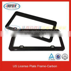 High Quality US License Plate Carbon Fiber Auto License Frame